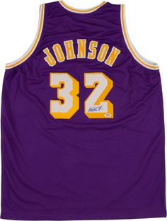 Magic Johnson Signed Los Angeles Lakers Jersey Lakers Girls 38c536130