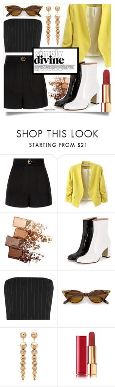 """""""Simply Divine"""" by soluther ❤ liked on Polyvore featuring RED Valentino, WithChic, Maybelline, Thierry Mugler, Oscar de la Renta and Chanel"""