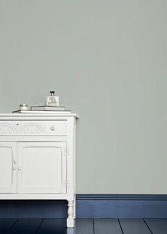Ideas Gray Wallpaper Bathroom Farrow Ball For 2019 Farrow Ball, Farrow And Ball Paint, Farrow And Ball Blue Gray, Borrowed Light Farrow And Ball, Grey Wallpaper, Bathroom Wallpaper, Floor Colors, House Colors, Neutral Wall Colors