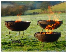 Kadai Fire Bowls - firebowls, barbeque fire bowls and garden planters - in stock Fire Pit Bowl, Fire Bowls, Fire Pits, Outdoor Events, Outdoor Decor, Outdoor Spaces, Large Backyard Landscaping, Wood Fired Oven, Charcoal Grill