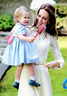 Catherine Duchess of Cambridge and Princess Charlotte at a children's party at Government House Canada. September 29 2016