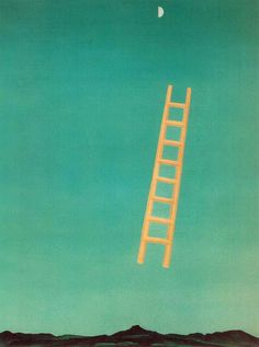 Georgia O'Keeffe - Ladder to the Moon. 1958. Whitney Museum of American Art, New York