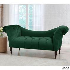 Skyline Furniture Mystere Velvet Fabric Chesterfield Loveseat - Free Shipping Today - Overstock.com - 20200899 - Mobile