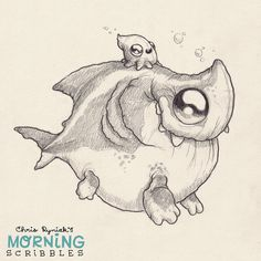 Squiddy-back ride.  #morningscribbles