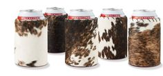 doesn't get more country than this.  cowhide koozie!