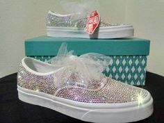 Wedding Vans, Bling Wedding Shoes, Wedding Sneakers, Bling Shoes, Bridal Shoes, Bling Bling, Dream Wedding, Prom Shoes, Vans Sneakers