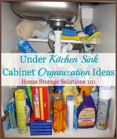 See before and after pictures from readers who have taken the under kitchen sink cabinet organization challenge and cleared out the clutter. Get ideas for how they did it and what you can do in your home too.