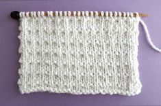 I think this classic vintage Andalusian Knit Stitch Pattern is so sweet. I'm going to knit up a baby blanket in one solid color with this easy texture. Get your FREE Knitting Pattern, Chart, Photos, and Video Tutorial by Studio Knit. Knit Purl Stitches, Knitting Stiches, Loom Knitting, Simply Knitting, Easy Knitting, Stitch Patterns, Crochet Patterns, Beginner Knitting Patterns, Knit Dishcloth