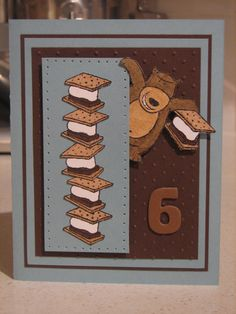 Smores card using Stampin Up Under the Stars retired stamp set.
