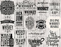 whiskey svg bundle whiskey girl svg tonight is bottoms up