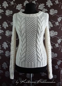 I hope I can make something like this someday! Lace Knitting Patterns, Knitting Designs, Knitting Stitches, Cable Knitting, Hand Knitting, Knit Fashion, Sweater Fashion, Pulls, Knitwear