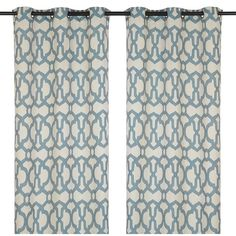 Teal Teemu Curtain Panel Set, 108 in. ($19) ❤ liked on Polyvore featuring home, home decor, window treatments, curtains, quatrefoil curtains, grommet panels, teal panels, geometric home decor and grommet window treatments
