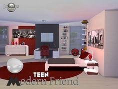 chambre adolescent sims 4