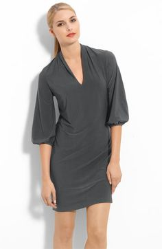 I love the cut of this dress.  You could layer this with something similar to the riding jacket & even add tights if you like.