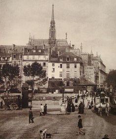 Paris 5e - La place Saint-Michel en 1860.