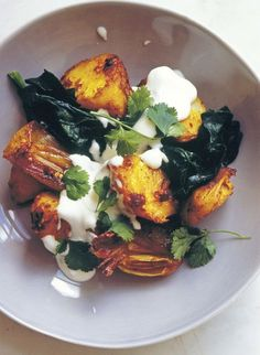 potatoes with spices & spinach from Eat/Nigel Slater