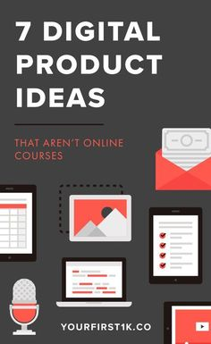 Let's face it: creating and selling online courses is amazing (obviously I'm a big fan!), but there are tons of other kinds of digital products you can create too. Creating a course is no small task. It can take weeks to put together! If you're looking to make some passive income from digital products, this guide will walk you through some digital product ideas you might not have considered before. Are e-courses and eBooks are the only profitable digital products - think again…