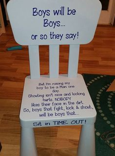 Boy's Time Out Chair by CCsCreations4You on Etsy