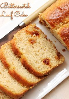 Eggless Butterscotch Loaf Cake This is a simple and easy Eggless Butterscotch Cake recipe that requires only a few basic ingredients, but the end product is absolutely amazing. Eggless Desserts, Eggless Recipes, Eggless Baking, Sweet Desserts, Baking Recipes, Simple Eggless Cake Recipe, Dairy Recipes, Loaf Recipes, Indian Desserts