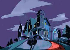 House from Beetlejuice cartoon via Ken Turner Blog.