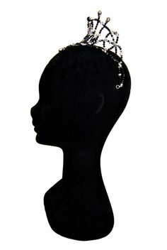 Professional Ballet Headpiece Tiara Black by JewelsAndMoreStore