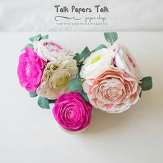 Glass cabochon brooch pins by Annie T by TalkPapersTalk Crepe Paper Flowers, Ranunculus, Flower Arrangements, Etsy Seller, Wedding Decorations, Paper Crafts, Create, Pink, Ideas