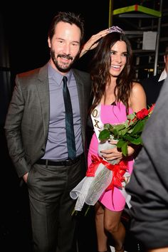"Keanu Reeves Photos - Actors Sandra Bullock, Keanu Reeves and Hugh Grant attend Spike TV's ""Guys Choice at Sony Pictures Studios on June 2014 in Culver City, California. - Spike TV's ""Guys Choice - Backstage And Audience Keanu Reeves Sandra Bullock, Matthew Mcconaughey, Hot Actors, Actors & Actresses, Sandro, Keanu Reeves Speed, Keanu Reaves, Spike Tv, Little Buddha"