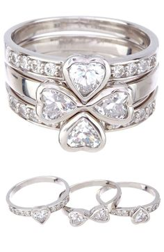 Stacking Hearts Rings that turn in to a clover! <3 love it