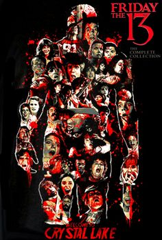 Friday the Collection. Best Horror Movies, Classic Horror Movies, Horror Films, Scary Movies, Horror Villains, Friday The 13th Poster, Friday The 13th Funny, Horror Icons, Horror Movie Posters