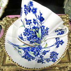 Royal Stafford, China Tea Sets, Bone China Tea Cups, Forget Me Not, Tea Cup Saucer, Fine China, Vintage Tea, Teacups, Tea Time