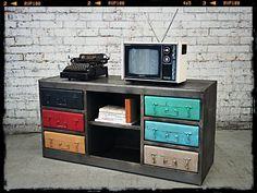 Retro TV Stand | Suitcase Inspired Furniture | Unique Entertainment Unit