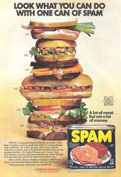 Spam, meat like