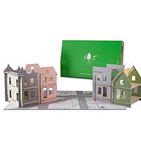 Lille City Set, now featured on Fab. For Children and parents alike. Cardboard Dollhouse, Dollhouse Kits, Camping Crafts, Fun Crafts, Little Architects, Reborn Toddler Dolls, Urban Architecture, Paper Architecture, Child Life