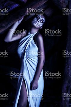 Women with creative make up for the Halloween royalty-free stock photo