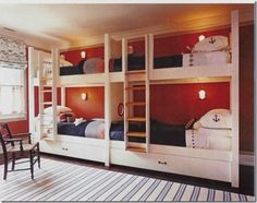 Wonderful bunks - perfect for lakeside cottage!