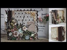 Steampunk Mini Album - My Fairy Treasures Design Team - February 2014
