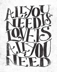 ALL YOU NEED IS LOVE IS ALL YOU NEED by Matthew Taylor Wilson motivationmonday print inspirational black white poster motivational quote inspiring gratitude word art bedroom beauty happiness success motivate inspire