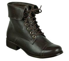 Bota coturno em couro marrom escuro | Botas | Bottero Calçados