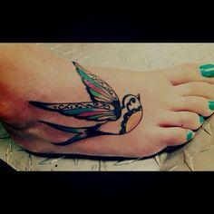 foot tattoo | quote tattoo | biblical tattoo | religious tattoo | tattoo inspiration | tattoo ideas | bird tattoo