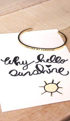 Hello Sunshine! Cutest bracelet ever!