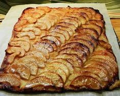 Barefoot Contessa Apple Tart - can buy puff pastry to make, very easy! I've seen this recipe a number of times, and it always looked like too much work. After my husband bought me a Victorio apple peeler-. Apple Tart Puff Pastry, Puff Pastry Recipes, Tart Recipes, Chef Recipes, Fruit Recipes, Apple Recipes, Food Network Recipes, Dessert Recipes, Cooking Recipes