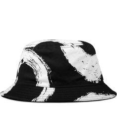 536977dca8244 Black Glass Print Bucket Hat