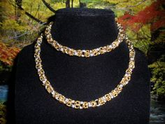 Byzantine Bracelet & Necklace Set by JohnsonChains on Etsy, $35.00