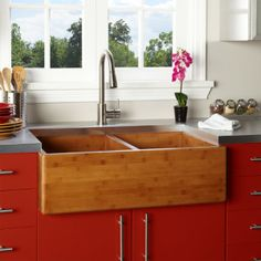 Farm Kitchen Sink Red Cabinets 22 Best Bamboo Farmhouse Sinks Images Apron Front 15 Extraordinary For Pic Ideas Double Fresh