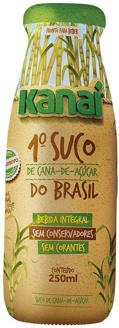 kanai-suco-de-cana-de-acucar Sugar Packaging, Juice Packaging, Packaging Stickers, Cool Packaging, Beverage Packaging, Coffee Packaging, Bottle Packaging, Brand Packaging, Packaging Design