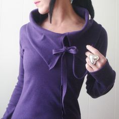 The Night Before – iheartfink Handmade Womens Solid Color Asymmetric Cowl Jersey Top