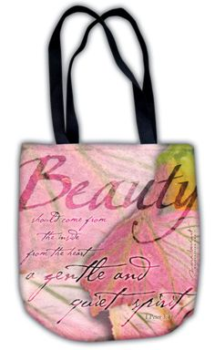 Your beauty should come from the inside. Your beauty should be a gentle and quiet spirit. Christian Artwork, Note Cards, Reusable Tote Bags, Spirit, Prints, Beauty, Design, Index Cards, Christian Art
