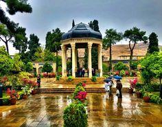 Hafez monument in Shiraz, Iran