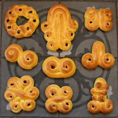 """Swedish """"Lussekatter"""" are traditional saffron buns that Swedes eat around Dec 13 (Lucia) and throughout the Christmas days."""