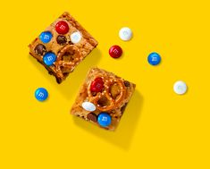Enjoy these loaded blondie bites with M&M'S® all summer long!